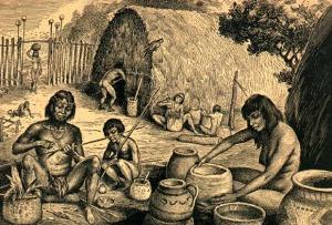 indianer familie historisch